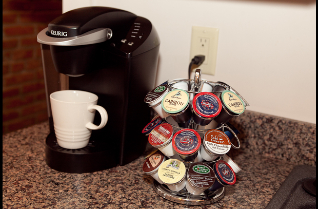 Delicious Keurig coffee awaiting in the morning